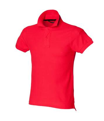 Skinni Fit Mens Club Polo Shirt (with Stay-up Collar) (Bright Red) - UTRW1400