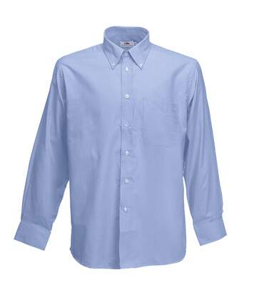 Fruit Of The Loom Mens Long Sleeve Oxford Shirt (Oxford Blue) - UTBC403