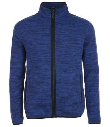 Veste tricot polaire unisexe- 01652 - bleu