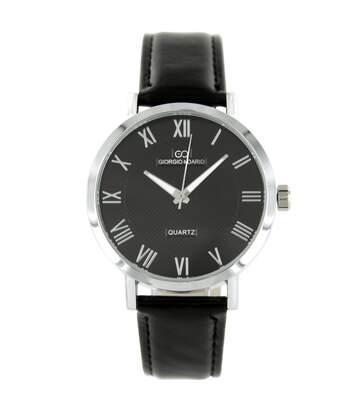 Montre Homme GIORGIO bracelet Cuir Noir