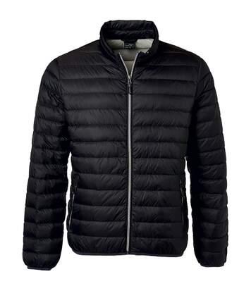 Veste doudoune matelassée duvet - JN1140 - noir - Homme