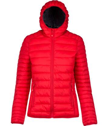 Doudoune légère à capuche - K6111 - rouge - Femme