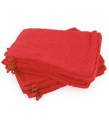 Lot de 12 gants de toilette 16x21 cm ALPHA rouge
