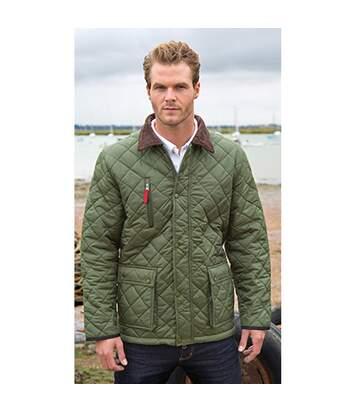 Result Mens Cheltenham Gold Fleece Lined Jacket (Water Repellent & Windproof) (Olive) - UTBC2049