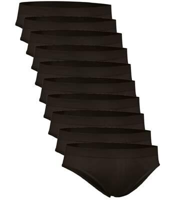 Lot 10 slips pour Homme - noir - ZEUS
