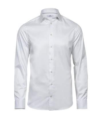 Tee Jays Mens Luxury Slim Fit Long Sleeve Oxford Shirt (White) - UTPC3485