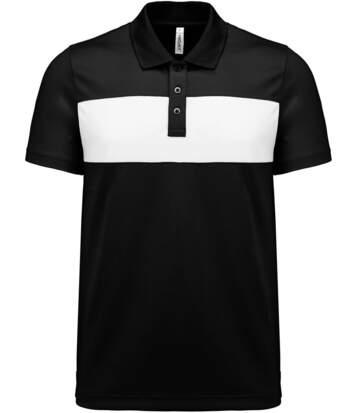 Polo sport - PA493 - noir - manches courtes