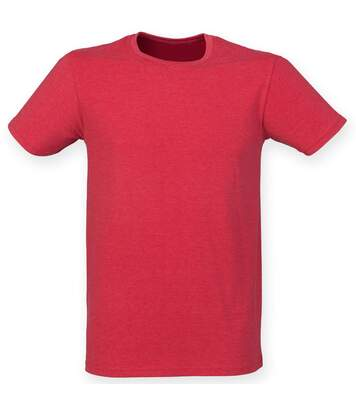 Skinnifit Mens Triblend Short Sleeve T-Shirt (Red Triblend) - UTRW4737