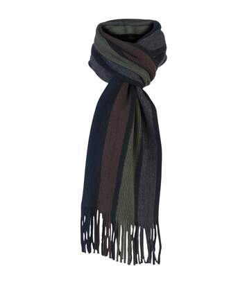 Mens Italian Inspired Knitted Striped Winter Scarf