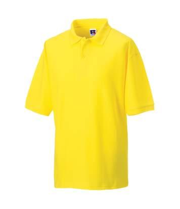 Russell Mens Classic Short Sleeve Polycotton Polo Shirt (Yellow) - UTBC566