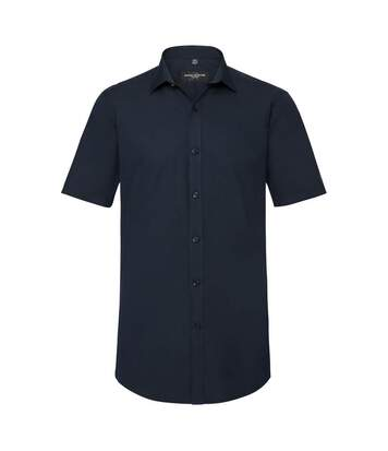 Russell Mens Short Sleeve Stretch Moisture Management Work Shirt (Bright Navy) - UTBC2739