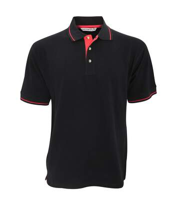 Kustom Kit Mens St. Mellion Mens Short Sleeve Polo Shirt (Black/Bright Red) - UTBC615