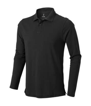 Elevate Mens Oakville Long Sleeve Polo Shirt (Anthracite) - UTPF1821