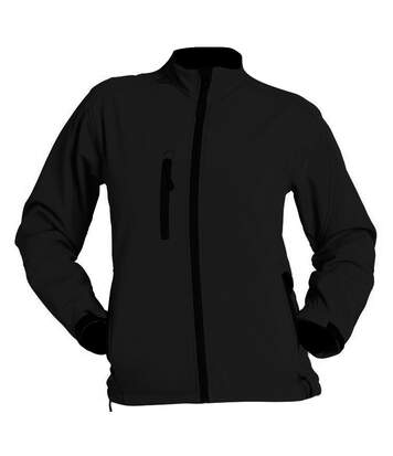 SOLS Womens/Ladies Roxy Soft Shell Jacket (Breathable, Windproof And Water Resistant) (Black) - UTPC348