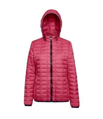 2786 Womens/Ladies Honeycomb Padded Hooded Jacket (Red) - UTRW5019