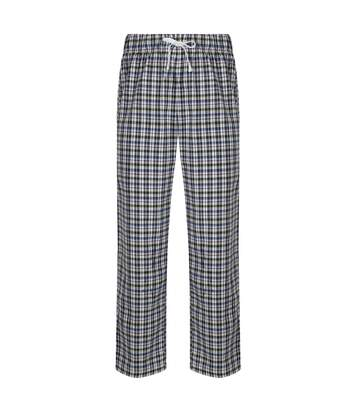 Skinnifit - Pantalon De Pyjama En Tartan - Homme (Blanc / bleu) - UTRW6023