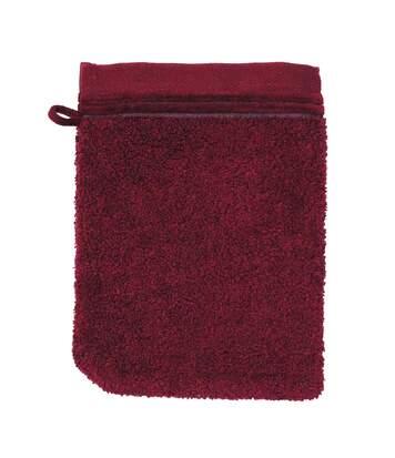Gant de toilette 16x21 cm JULIET Rouge bordeaux 520 g/m2