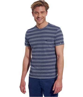 Tee Shirt Coton Tramé  -  Kaporal