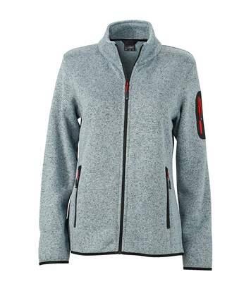 Veste zippée polaire - femme - JN761 - gris clair