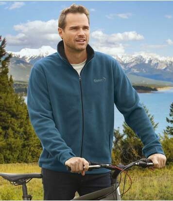 Men's Teal Blue Ultra-Warm Fleece Top