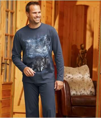 Katoenen pyjama Wolf Land