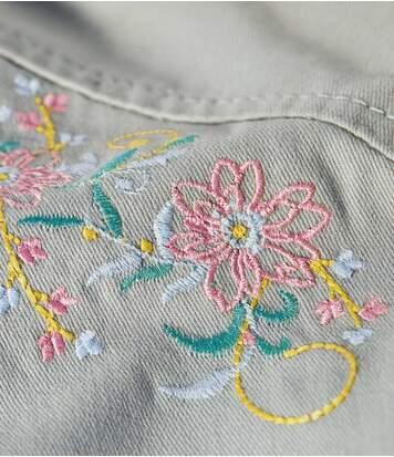 Women's Sage Embroidered Safari Jacket
