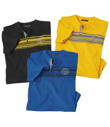 3er-Pack Henley-Shirts Pacific Summer