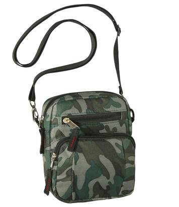 Men's Cross-Body Bag - Camouflage Motif