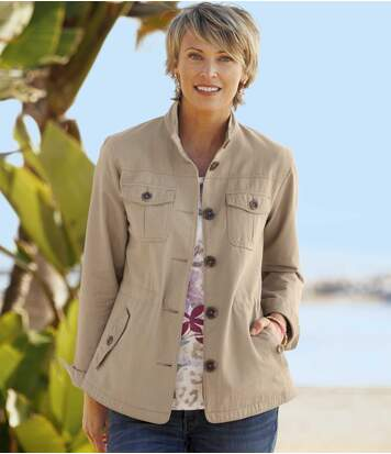Sommerliche Safari-Jacke