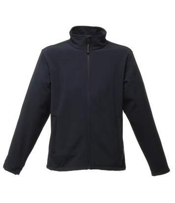Regatta Reid Mens Softshell Wind Resistant Water Repellent Jacket (Navy Blue) - UTBC816