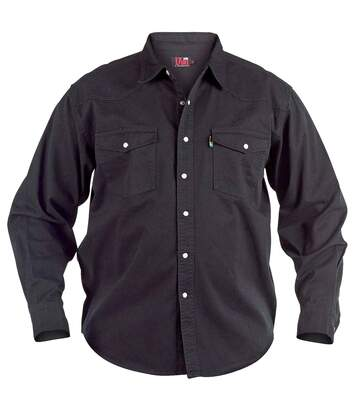 Duke Mens Kingsize Western Denim Shirt (Black) - UTDC103