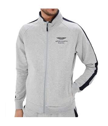 Sweat zippé gris homme Hackett Aston Martin