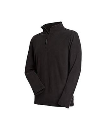 Stedman Mens Active Half Zip Fleece (Black Opal) - UTAB291