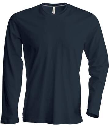T-shirt manches longues col rond - K359 - gris foncé - homme