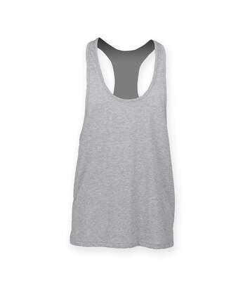 Skinnifit Mens Plain Sleeveless Muscle Vest (White) - UTRW4741