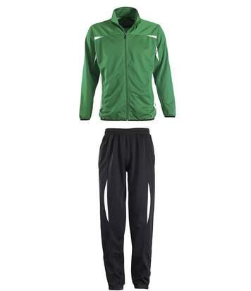 Survêtement sports - 90300 noir et vert - mixte homme femme