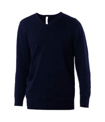 Kariban Mens V-Neck Long Sleeve Jumper / Knitwear (Navy) - UTRW2714
