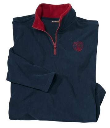Men's Half Zip Navy Microfleece Jumper