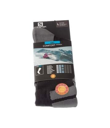 Chaussette Hautes - 1 paire - Resserrage cou de pied - Respirantes - Sans bouclette - Dégradé - Snowboard - Chaude - Noir - Comfort Women
