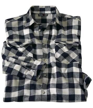 Flanelowa koszula w kratę Atlas
