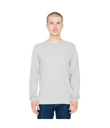 American Apparel - T-Shirt Manches Longues - Unisexe (Gris chiné) - UTPC4068