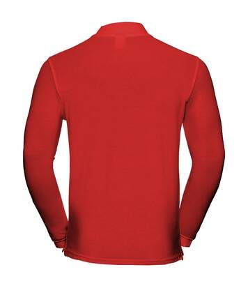 Russell Europe Mens Long Sleeve Classic Cotton Polo Shirt (Classic Red) - UTRW3280