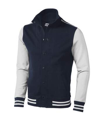 Slazenger Mens Varsity Sweat Jacket (Navy/Off-White) - UTPF1756