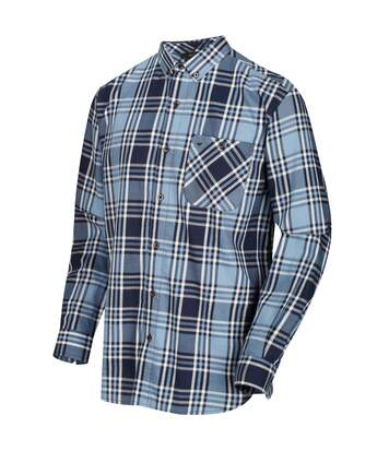 Regatta Great Outdoors Mens Lazare Long Sleeve Checked Shirt (Navy) - UTRG4716