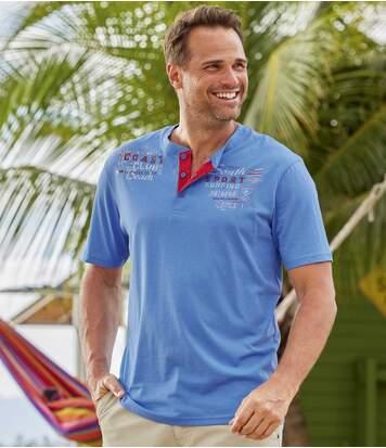 Lot de 2 Tee-Shirts Col Tunisien Beach Club