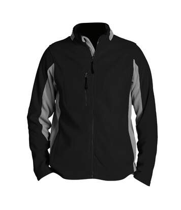SOLS Mens Nordic Full Zip Contrast Fleece Jacket (Black/Medium Grey) - UTPC409