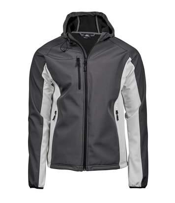 Veste softshell technique à capuche - homme - 9514 - gris