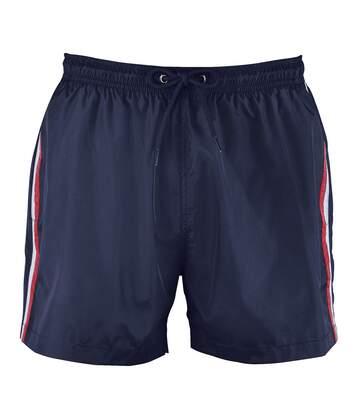 Short de bain Homme tricolore - 02919 bleu marine