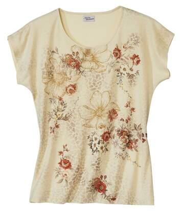 Virágmintás póló