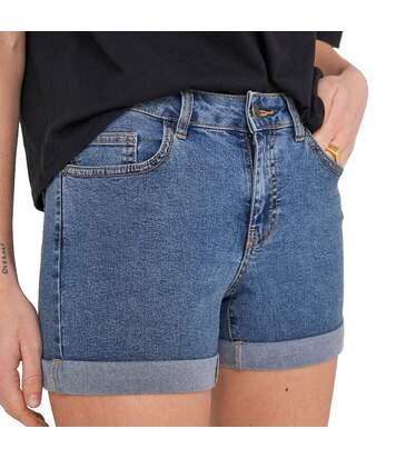 Short en Jeans Bleu foncé Femme Noisy May BE LUCY